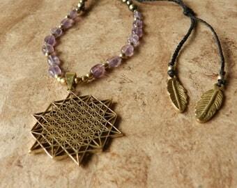 Tetrahedron Amethyst Necklace