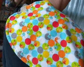 Burpie-Bib; 12 x 24 burp cloth, bib, nursing pillow cover
