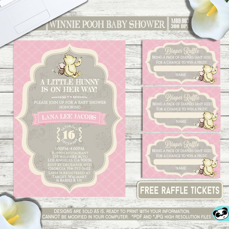 PRINTABLE || Classic Winnie Pooh|| Baby shower invitation|| FREE ...
