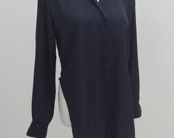 Stunning Salvatore Ferragamo Vintage Salvatore Ferragamo 100% Silk Elegant Ladies Blazer Blouse Size S