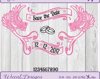 Bird banner svg, wedding Svg, banner svg, Birds svg, Save the Date svg, engagement svg, vinyl cut files, Dxf file, Cricut svg, Scanncut