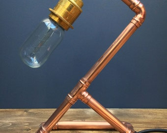 Copper Pipe Retro Industrial Chic Table Lamp
