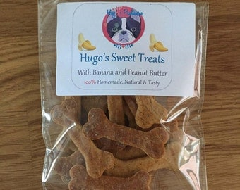 Hugo's Sweet Treats - With Banana and Peanut Butter