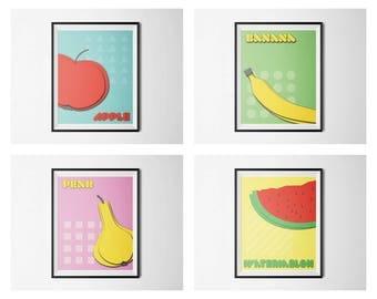 Pop-Art BUNDLE, Nursery Decor, Nursery Wall Art, Nursery Prints, Nursery Art, Childrens Art, Kids Room Decor, Kids Prints, Kids Printables