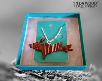 Wood Grain Texture Yooper Necklace