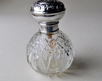 Vintage Perfume Bottle- Demi Jour Brand-Made in France- Fragrance Bottle-Vanity Decor-Boudoir-Empty Perfume Bottle
