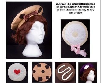PDF Lolita Sewing Pattern - 4500 Sweet Treat Beret Set