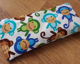 Organic Lavender and Flaxseed Eye Pillow for Yoga/Relaxation - Monkey Print