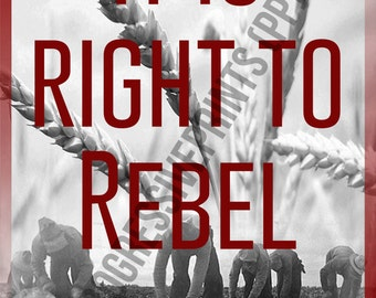 Poster, Mao, It is Right to Rebel