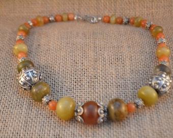 Jade and Aventurine  Necklace
