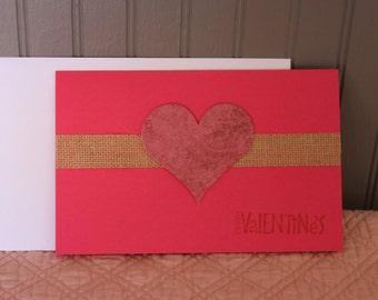 Happy Valentine's - Handmade Valentine's Card