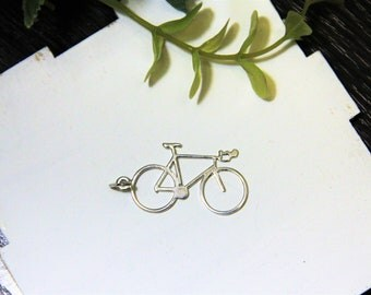 I Want to Ride My Bicycle sterling silver pendant