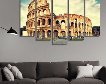 LARGE XL Rome Coliseum Canvas, Coliseum in Rome, Canvas, Italy Wall Art Print Home Decoration - STRETCHED
