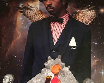 Magic Don God--Collage Art--African American Art--PRINT