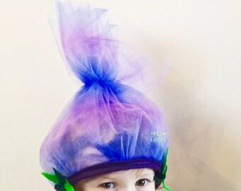 Halloween Trolls Branch Headband ~ Boys Dress Up Play Costume - Trolls Hair Hat ~ Trolls Birthday ~ Trolls Costume - Purple
