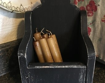 Handmade/ Wood Craft/ Primitive Candle Box/ Wall Box