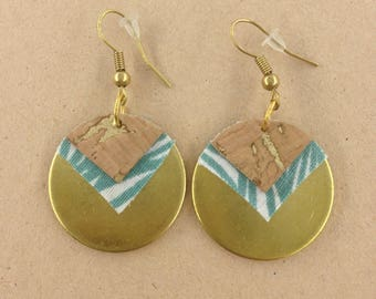 Pierced ears-MAYA-ethnic-round-leather Cork wax