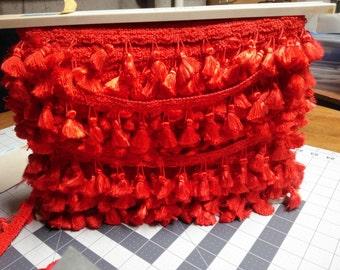 Bright red tassels!