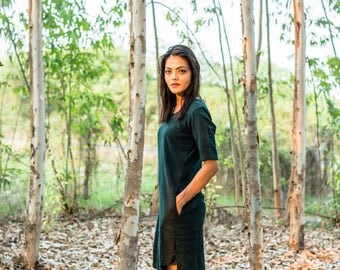 Green Organic Shift Dress