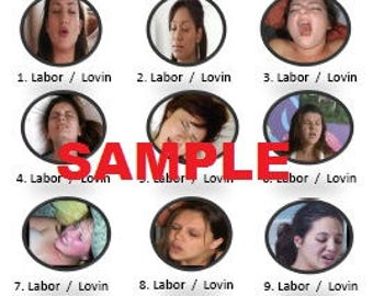 Labor or Lovin - Color Baby Shower Game with Answer Key