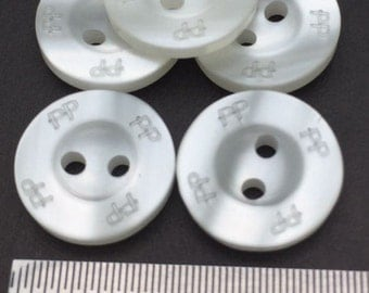 25 Pcs, 18L(Diameter 11mm) 2 hole Plastic Sew On Button, Pearl Color