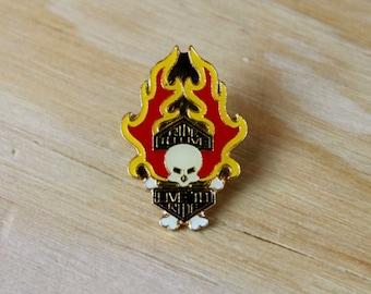 """HARLEY DAVIDSON PIN: Vintage Motorcycle Enamel Pin - """"Ride To Live""""   Harley Davidson Pin - Great Gift!"""