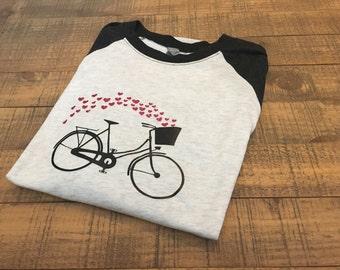Womens Raglan Heart Shirt   Womens Heart Shirt   Womens Valentine Shirt   Valentine  Shirt