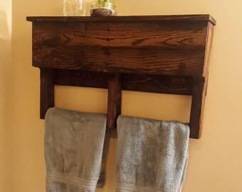 Bathroom Towel Rack- Pallet Towel Rack