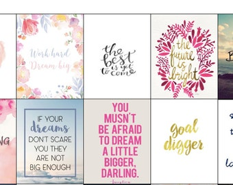 Printable Motivational Stickers: EC Life Planner Stickers, Inspirational Quotes, Life Quotes