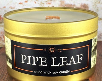 """Halfling PIPELEAF Book-Fantasy-RPG-Inspired Geek Candle 