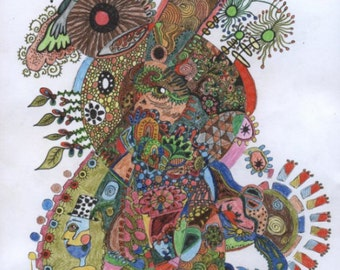 Beautiful Chaos - Drawing On Canvas