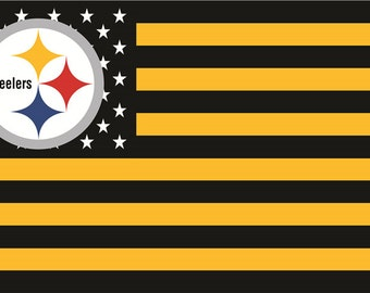 SUMMER SALE Pittsburgh Steelers Team Flag and Banner 3' x 5'