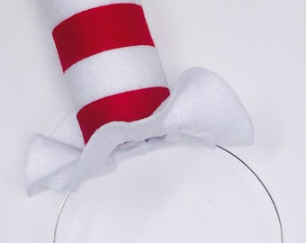 Cat in the Hat Dr. Seuss Headband and Bow Tie Party Hat