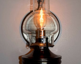 """Rustic Antique """"Pewter"""" Custom Wall Sconces"""