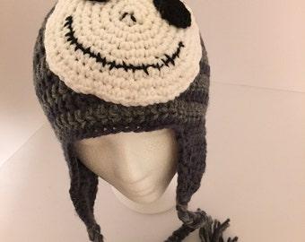 Handmade - Jack Skellington winter hat with braids