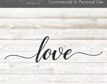 Love Svg File - Wedding Words - Love DXF Files - Love Cuttable File - Love Cut File - Love Cricut File - Love Silhouette Cameo File