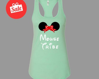 Mouse Tribe Minnie Mouse Cute Tank. Bridal Tanks. Bachelorette Tank Tops. Custom Bridal Shirts. MOH Gift