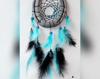 Horseshoe Dreamcatcher black turquoise