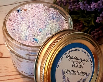 Calming Lavender Bath Salts, Bath Soak, Lavender Bath Salts, Dead Sea Salt, Foot Soak, All natural, Aromatherapy Bath Salts