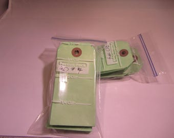 Hand dyed green manila shipping tags.  Set of 50 green shipping tags.  Number 4 unstrung tags.
