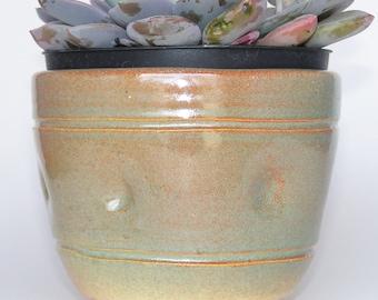 Ceramic Succulent Planter, Small Succulent Planter, Ceramic Herb Planter, Indoor House Planter, Planter, Handmade Pot, Ceramics & Pottery