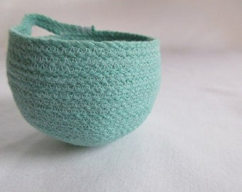 modern rustic coiled cord bowl