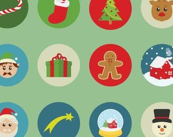 Christmas stickers agenda