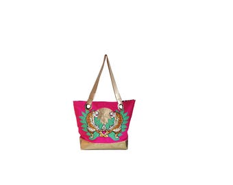 one123one Pink Tiger Tote