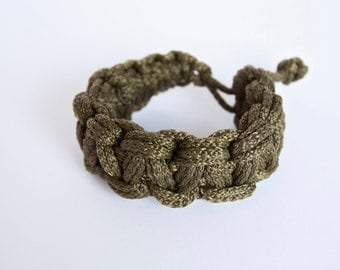 ROPE KNOT BRACELET knotted flower