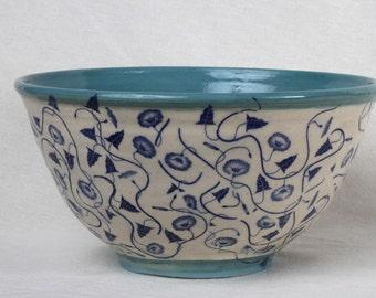 Decorative bowl, ceramic bowl, gift, serving bowl, pasta bowl, salad bowl, wedding gift, anniversary gift,