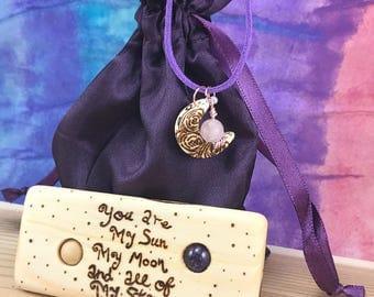 Sun and Moon Folk Art|Moon Folk Art Gift|Sun Folk Art Gift|Wood Folk Art Gift For Her|All My Stars Gift|Creative Gift Idea for Her|Wood Gift