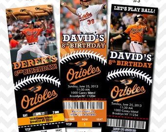 Baltimore Orioles Invitation, Orioles Birthday Party, Baseball Invitation, Save the Date Invitation, Orioles Birthday Invitation, VIP Pass