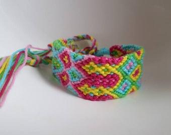 Neon Friendship bracelet, Multicolor bohemian bracelet, woven friendship bracelet, Bff Bracelet, cuff bracelet, wish bracelet