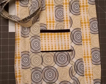 Black and Yellow Dottie Tote Bag